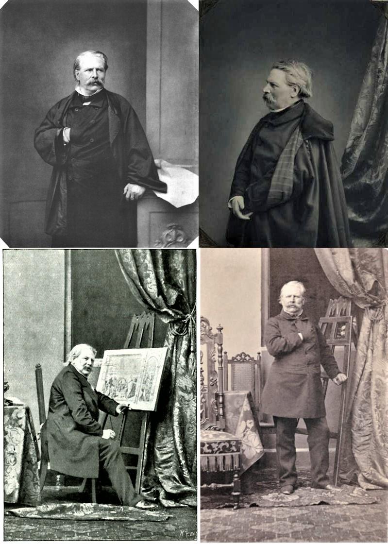 Vier fotoportretten van Moritz von Schwind