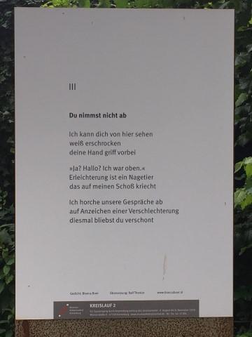 Du nimmst nich ab, gedicht van Bianca Boer, gevonden in Kranenburg