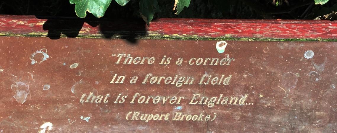 Poëzie, straatpoëzie, dichtregel, Rupert Brooke, Heumen