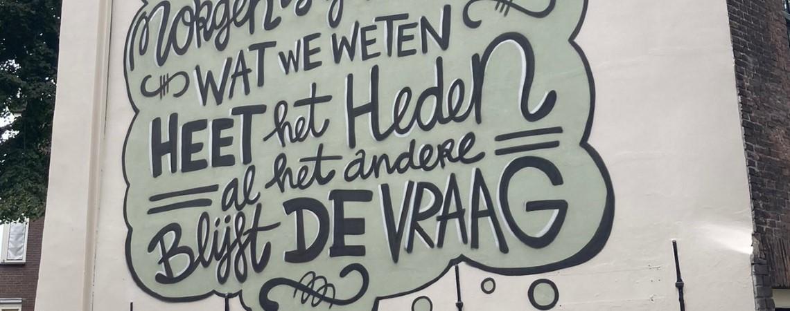 Poëzie, straatpoëzie, gedicht, muurgedicht Derek Otte, Rotterdam
