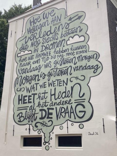 Gedicht van Derek Otte, gevonden op de Vriendenlaan in Rotterdam