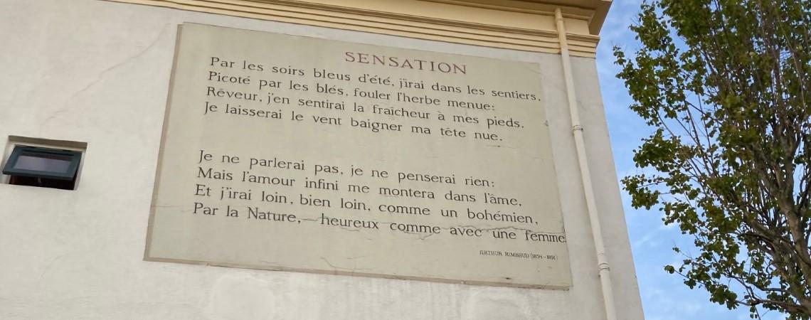 Poëzie, straatpoëzie, gedicht, muurgedicht, Arthur Rimbaud, Leiden