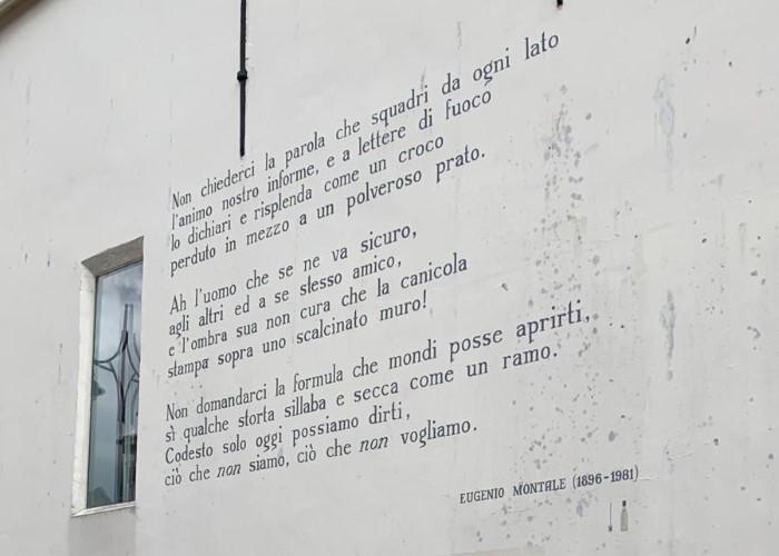 Non chiederci, gedicht van Eugenio Montale, gevonden in Leiden