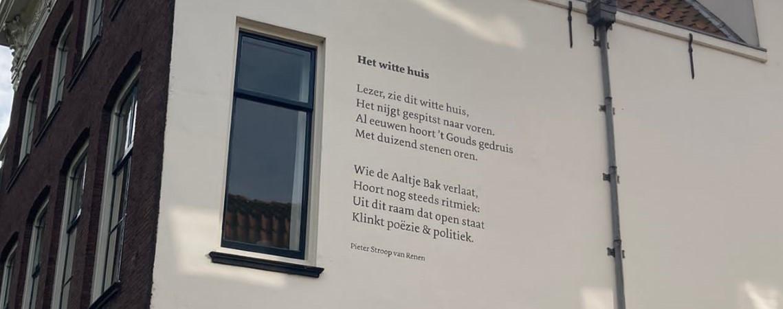 Poëzie, straatpoëzie, gedicht, muurgedicht, Pieter Stroop van Renen, Gouda